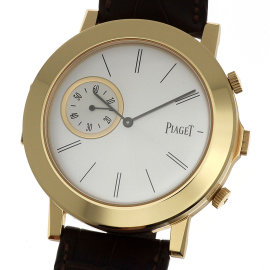 Piaget Altiplano Double Jeu 18K Rose Gold & Leather Manual 43mm Mens Watch