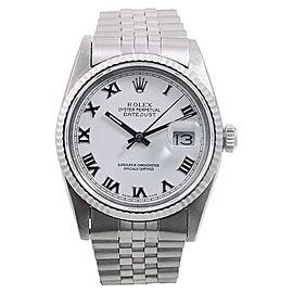 Rolex Datejust 16234 18K White Gold/ Stainless Steel 36mm Mens Watch