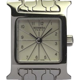 Hermes Steel Womens Watch Dial Size 17 Cm