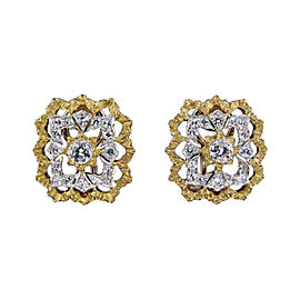 Buccellati 18K Yellow Gold & Diamond Earrings