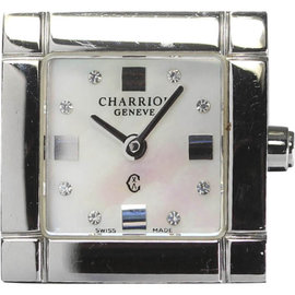 Philippe Charriol Celtic Stainless Steel & Pink Shell Diamond Dial 20mm Womens Watch