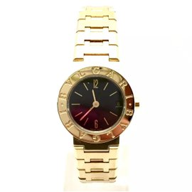 Bulgari Diagono 18K Yellow Gold Quartz 23mm Womens Watch