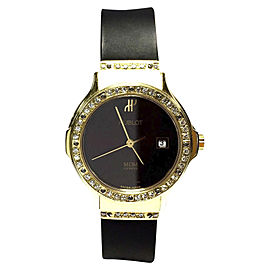 Hublot 18K Yellow Gold with Diamond Bezel 28mm Womens Watch