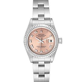 Rolex Datejust 26 Steel White Gold Salmon Dial Ladies Watch 69174