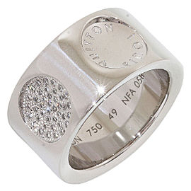 Louis Vuitton 18K White Gold & Diamond Grand Berg Empreinte Ring Size 5.5