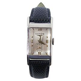 Longines 14K White Gold Vintage 20.4mm Mens Watch 1940s