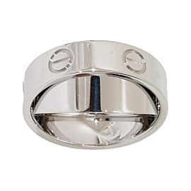 Cartier Love 18K White Gold Pendant Ring Size 5.25