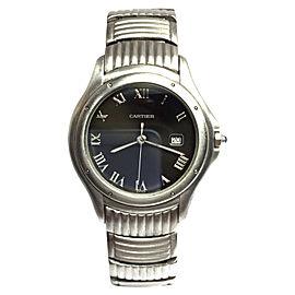 Cartier Stainless Steel Quartz 34mm Unisex Watch