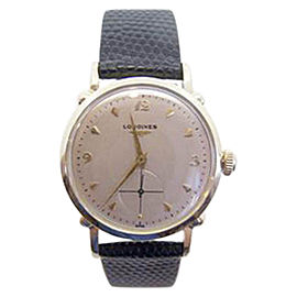 Longines 14K Yellow Gold Automatic Vintage 33.6mm Mens Watch
