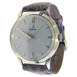 Omega 2686 18K Yellow Gold / Leather Vintage 36mm Mens Watch
