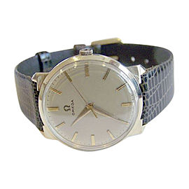 Omega 14K Yellow Gold / Leather Vintage 33 mm Mens Watch