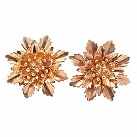 14K Rose Gold Flower Bouquet Earrings