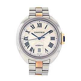 Cartier Cle de Cartier W2CL0002 18K Gold & Stainless Steel Automatic 40mm Mens Watch