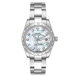 Rolex Datejust Midsize 31 Steel MOP Diamond Watch 178344