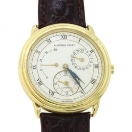 Audemars Piguet Dual Time 25685B 18K Yellow Gold 36mm Mens Watch