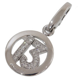 Cartier 18K White Gold Number 13 Motif Pendant