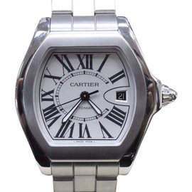 Cartier Roadster 3312 Stainless Steel & Silver Dial 45.6mm Mens Watch