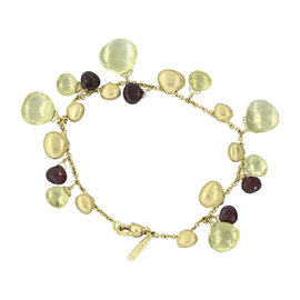 Marco Bicego Paradise 18K Yellow Gold with Multi-Colored Gemstone Bracelet