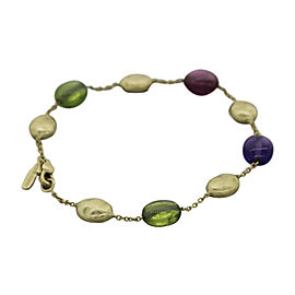 Marco Bicego Siviglia 18K Yellow Gold with Multi-Colored Gemstone Bracelet