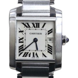Cartier Tank Francaise 2465 Stainless Steel & Silver Dial 25mm Unisex Watch