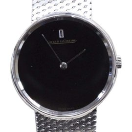 Jaeger-LeCoultre 18K White Gold with Black Dial 32mm Mens Watch
