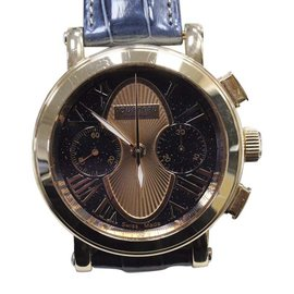 Tourneau Gotham 18K Rose Gold Blue & Rose Color Dial 41mm Mens Watch