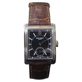 Patek Philippe Gondolo 5010G 18K White Gold & Black Dial 25mm Mens Watch