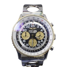 Breitling Navitimer Cosmonaute D22322 18K Yellow Gold & Stainless Steel 43mm Mens Watch