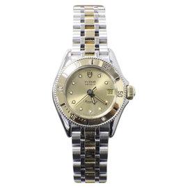 Rolex Tudor Monarch II 15853 14K Yellow Gold & Stainless Steel Quartz 26mm Womens Watch