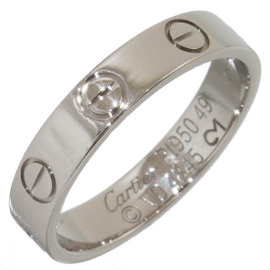 Cartier Mini Love Platinum Ring Size 5
