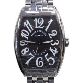 Franck Muller Casablanca 2852 Stainless Steel & Black Dial 31mm Mens Watch