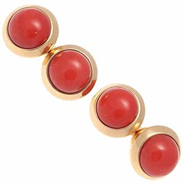 Vintage Cartier 18K Yellow Gold Coral Cufflinks