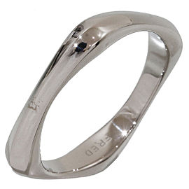 Fred Coup De Foudre 18K White Gold Band Ring Size 9.75