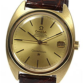 Omega Constellation BA-168.009 Chronometer 18K Yellow Gold Automatic 35mm Mens Watch