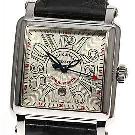 Franck Muller Conquistador 10000LSC Stainless Steel / Leather Automatic 32mm Womens Watch