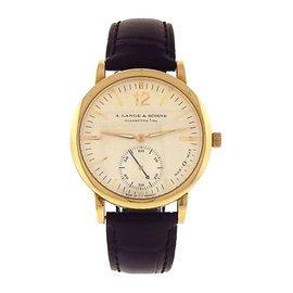 A.Lange & Sohne Langmatik Sax-O-Mat 301.021 18K Yellow Gold Automatic 37mm Mens Watch