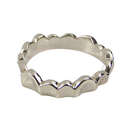 Vintage Angela Cummings 925 Sterling Silver Scalloped Heart Ring Size 4.5
