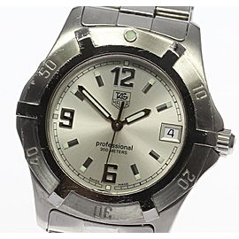 Tag Heuer Professional WN1113 Stainless Steel Quartz 38mm Mens Watch