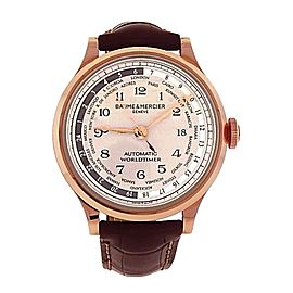 Baume & Mercier Capeland Worldtimer M0A10107 18K Rose Gold Automatic 44mm Mens Watch