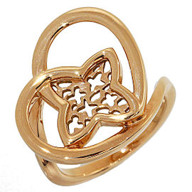 Louis Vuitton 18K Rose Gold Coeur Band Ring Size 4.5