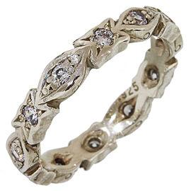 Loree Rodkin Zirconia 925 Sterling Silver Band Ring 4.25