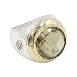 David Yurman 925 Sterling Silver with Champagne Citrine Cerise Ring Size 6