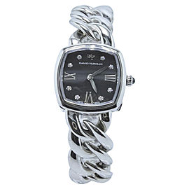 David Yurman Albion T9005QSSTBRAC Stainless Steel with Diamonds Quartz 23mm Womens Watch