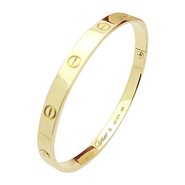 Cartier 18K Yellow Gold Love Bracelet Size 21