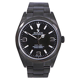 Rolex Explorer 1 214270 DLC/PVD Coated Stainless Steel with Black Dial Automatic 39mm Mens Watch