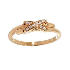 Chaumet Lien de 18K Rose Gold & Diamonds Band Ring Size 4