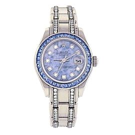 Rolex Datejust Pearlmaster 80309 18K White Gold withn Diamond Automatic 29mm Womens Watch