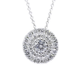 Roberto Coin Classics 18K White Gold with 0.50ct Diamond Pendant Necklace