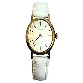 Tiffany & Co. TC101M 18K Yellow Gold / Leather Quartz 21mm Womens Watch