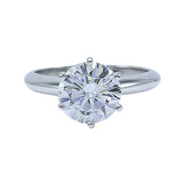 Tiffany & Co. Platinum 2.01ct Diamond Ring Size 5
